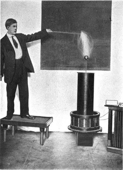 History Of The Tesla Coil File Tesla Discharge Through Boys Jpg