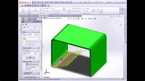 solidworks tutorial introduction solidworks tutorial sheet metal introduction youtube
