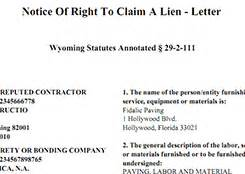 Letter Of Intent To Lien Template Sle Lien Forms Preview Preliendepot