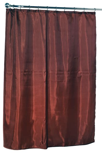 Spice Colored Curtains Standard Sized Polyester Fabric Shower Curtain Liner In Spice Color Traditional Shower