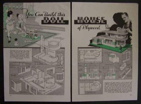 deco dollhouse plans deco style dollhouse 1937 vintage how to build plans