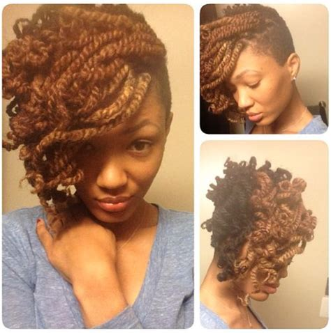 twists on twa with tapered sides two strand twists protective style hair do pinterest