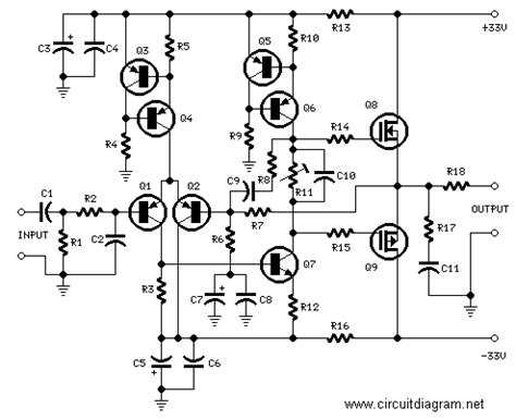 mosfet transistor audio lifier 25w hifi audio lifier with mosfet schematic design