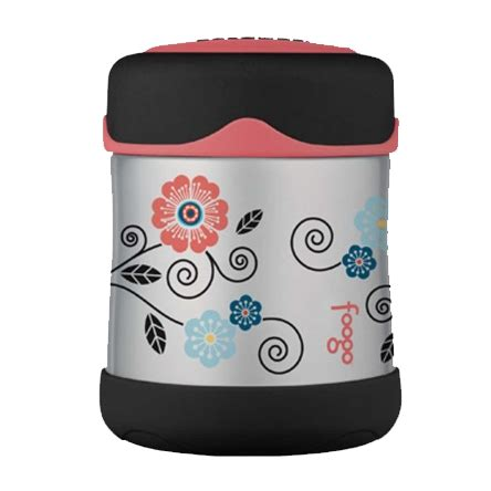 Foogo Food Jar 10 Oz Thermos Blue Pink thermos foogo vacuum insulated stainless steel food jar