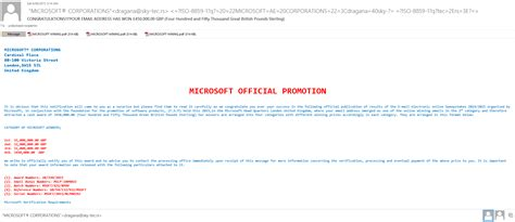 Microsoft Sweepstakes - more phishing emails craig the computer geek