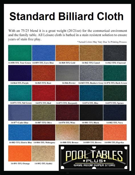 best pool felt color pool sizes chart trendy dining cloth size