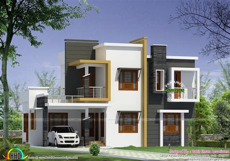 home planes box type modern house plan kerala home design and floor plans