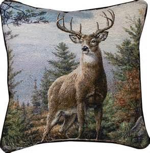 pair of standing proud tapestry whitetail deer throw