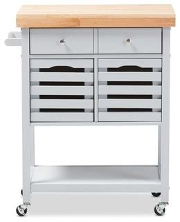 contemporary kitchen carts and islands jaden finished wheeled kitchen cart with butcher top