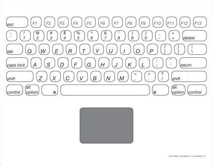 printable version of a computer keyboard learn the keys on a keyboard make your own laptop or