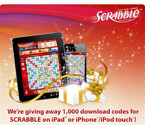 win scrabble mobile ea is giving away 2 000 free codes for scrabble on iphone