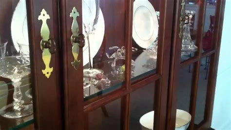 how to arrange a china cabinet dining room with china cabinet youtube