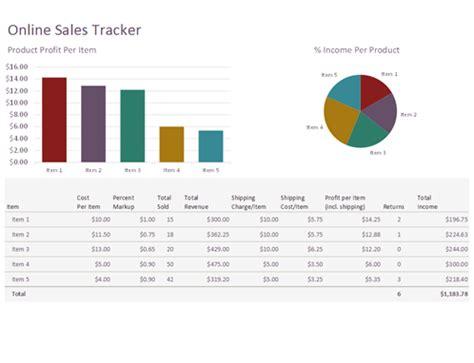 Online Sales Tracker Free Sales Tracker Template