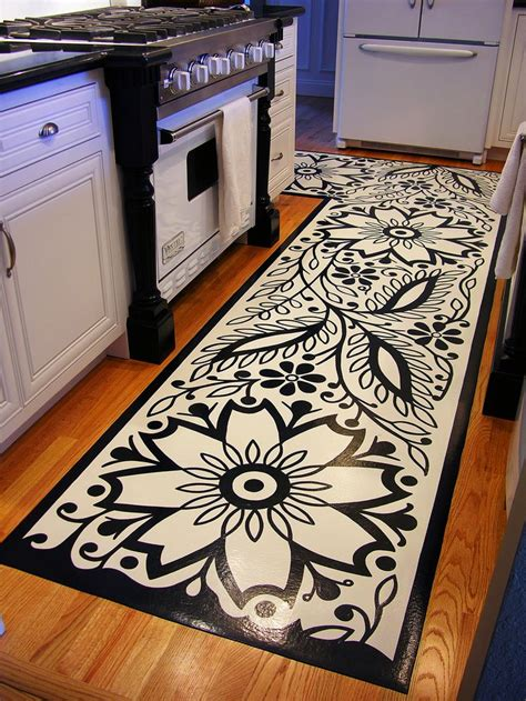 Kitchen Mat Vinyl 17 Best Ideas About Painted Vinyl Floors On