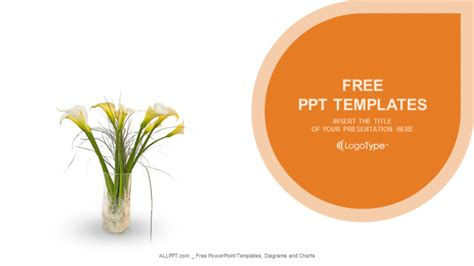 flowers in vase nature powerpoint templates