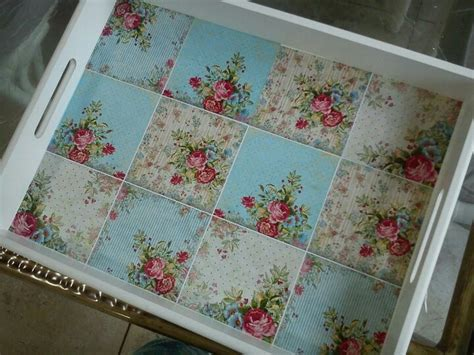 Decoupage A Tray - decoupage tray decoupage