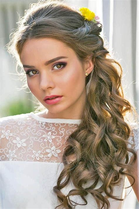 Hairstyles For Weddings Hair by 15 Collection Of Curly Hairstyles For Weddings Hair