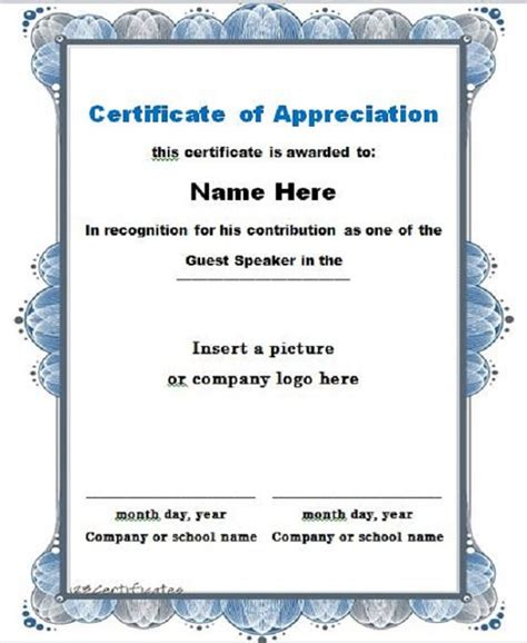 30 Free Certificate Of Appreciation Templates And Letters Certificate Of Recognition Template