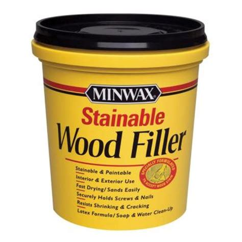 minwax 16 oz stainable wood filler 42853000 the home depot