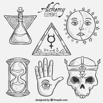 imagenes de simbolos alquimistas alquimia vetores e fotos baixar gratis