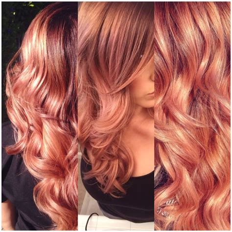 copper brown hair on pinterest color melting hair blonde hair exte the 25 best rose gold ombre ideas on pinterest rose