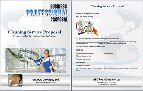 cleaning proposal template free proposal templates