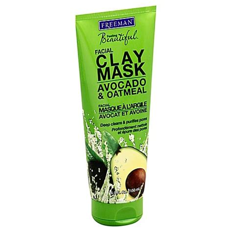Freeman Pueifying Avocado Oatmeal Mask freeman 174 feeling beautiful 6 oz clay mask with avocado oatmeal bed bath beyond