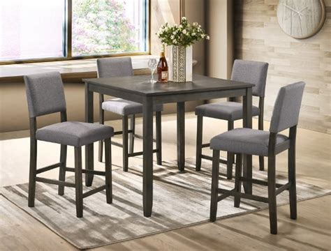 grey counter height table set derick 5 counter height table set grey mcallen