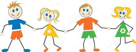 imagenes de niños alegres en caricatura ni 241 os felices caricaturas vector de stock 169 prawny 64293529