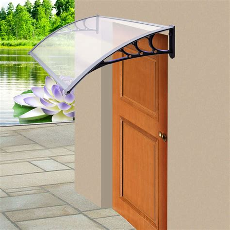 Patio Door Canopy New Door Canopy Awning Shelter Front Back Porch Outdoor Shade Patio Roof Ebay