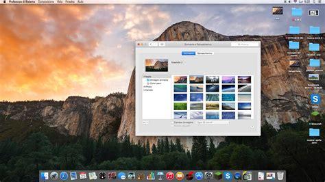 scrivania per imac come cambiare l immagine della scrivania su mac