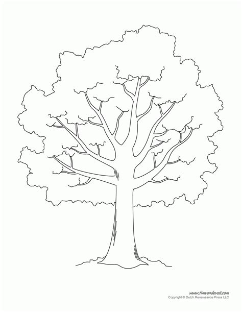 Tree Templates For Kids Az Coloring Pages For Tree Template