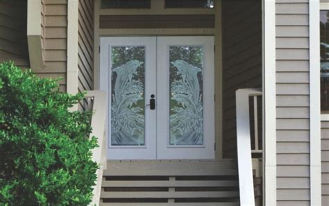 Hurricane Exterior Doors Etched Glass Doors Frosted Glass Doors Tropical Glass Doors Pantry Door