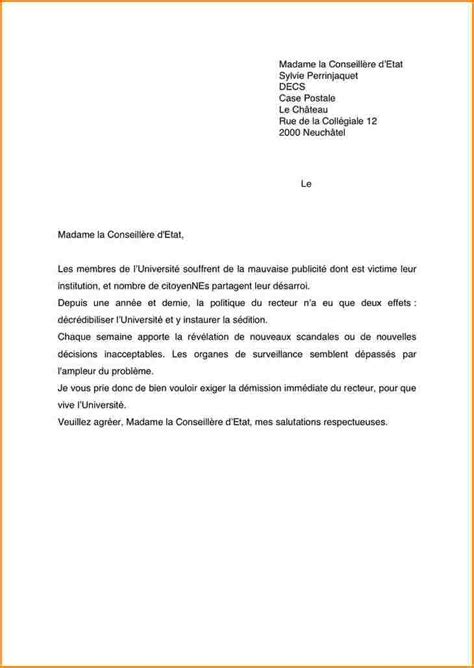 Exemple De Lettre Administrative Simple 10 Lettre Demission Lyc 233 E Curriculum Vitae Etudiant