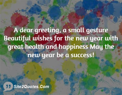a dear greeting a small gesture beautiful wishes for the