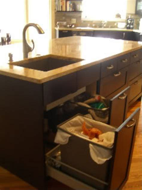 under sink double trash pull out drawers under sink