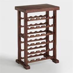Oak Kitchen Pantry Kitchen Cabinet 30 bottle verona wine rack world market
