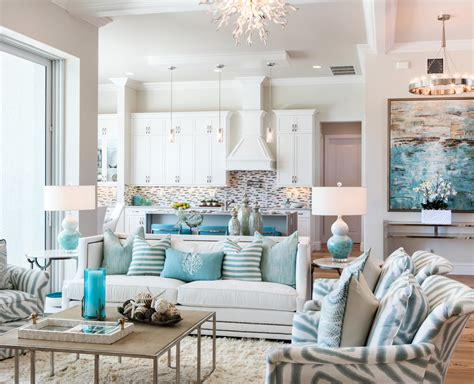 Floral Blue And White Living Room Living Room Decorating by White And Aqua Living Room Peenmedia