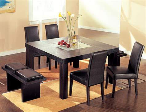 bench dining room table set home design and decorate square dining table from the