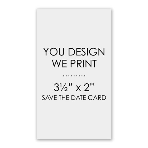 design free save the date cards you design we print 3 1 2 quot x 2 quot save the date card