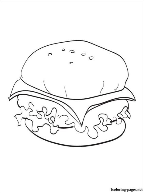Cheeseburger Coloring Page Coloring Pages Cheeseburger Coloring Page