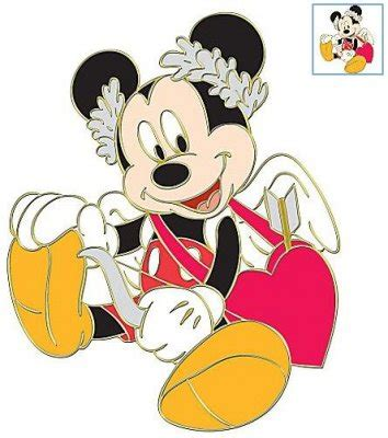 valentines mickey mouse mickey mouse as cupid st s day series pin from