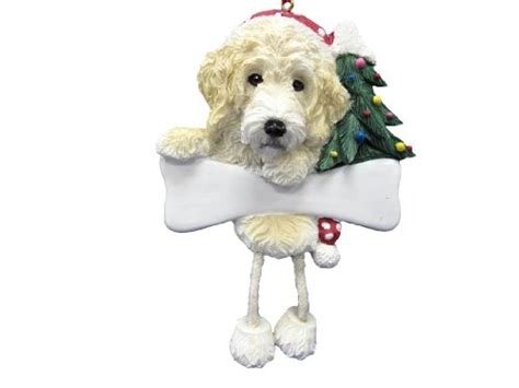 labradoodle holiday ornaments labradoodle ornament with unique quot dangling legs quot painted and easily personalized