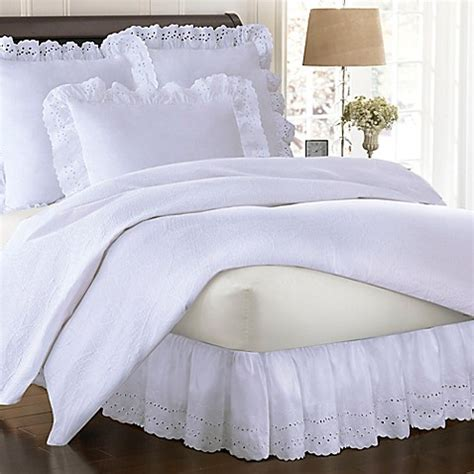 bed skirts bed bath and beyond smootheweave ruffled eyelet bed skirt bed bath beyond