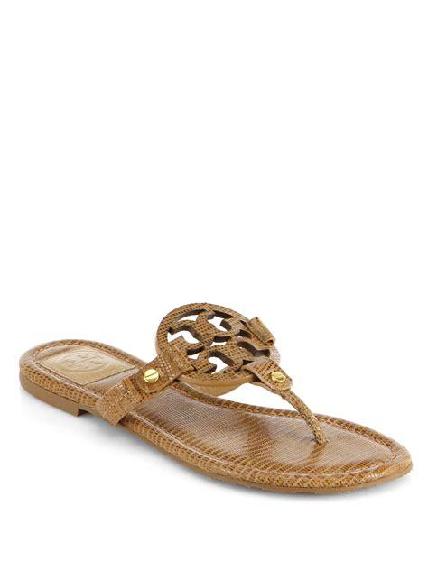 torey burch sandals burch miller lizardembossed leather sandals in