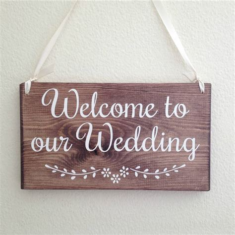 Handmade Wooden Signs - welcome to our wedding handmade wooden sign by bobby