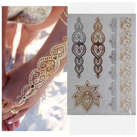 tattoo body chain free shipping body art chain gold temporary flash tattoo