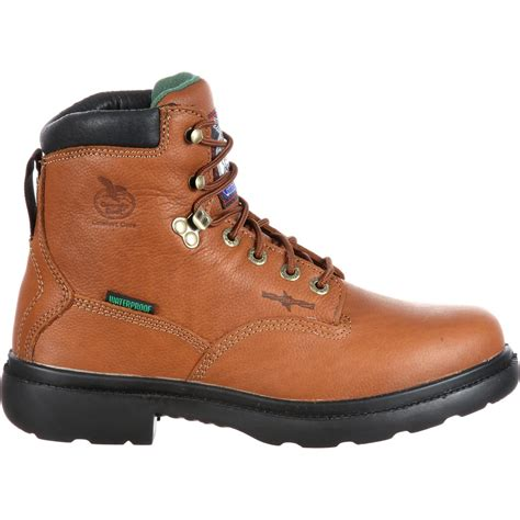 waterproof comfortable boots georgia farm ranch comfort core waterproof boot g6503