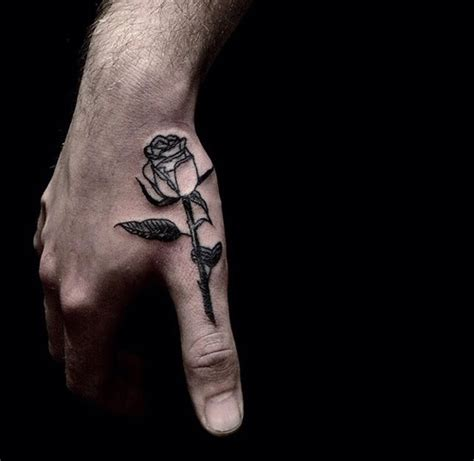 rose finger tattoos thumb plain best ideas gallery