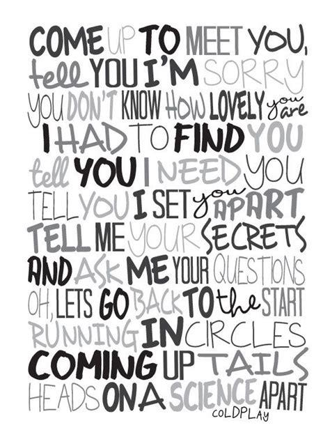 coldplay wedding song best 25 song lyrics ideas on pinterest song lyric